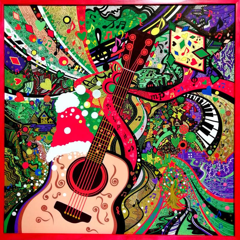 クリスマスの音色 | 画家 小高朋恵 BON
