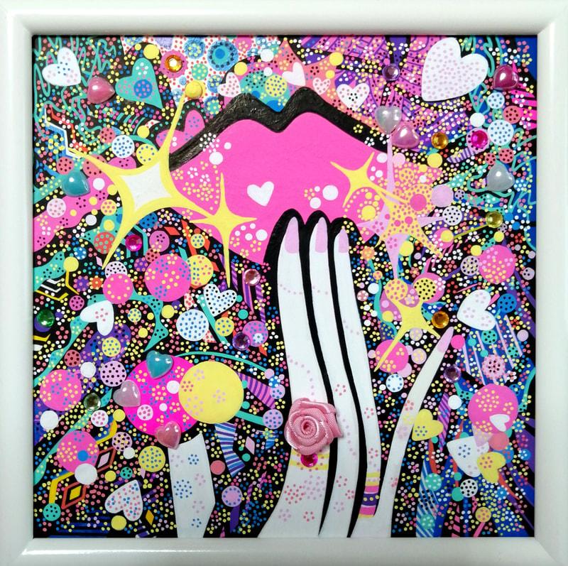 ピンクの吐息 | 画家 小高朋恵 BON